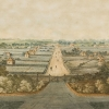 Figure 1 George Street Parramatta from the gates of Government House, c.1804-1805, George Evans. [Historic Houses Trust, Caroline Simpson Collection, No.31758]