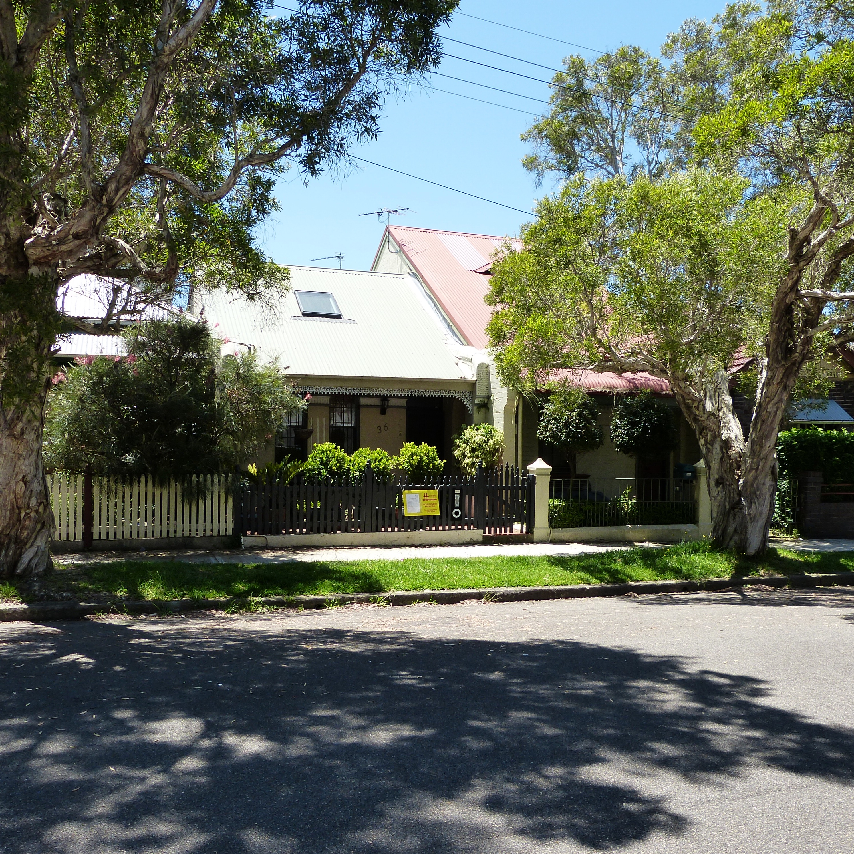 Only the front facade of 36 Lamb Street Lilydale remains of the original residence constructed in the early 1890s.