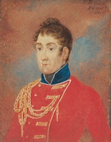 Governor Lachlan Macquarie by Richard Read snr, 1819. [Tasmanian Museum and Art Gallery]