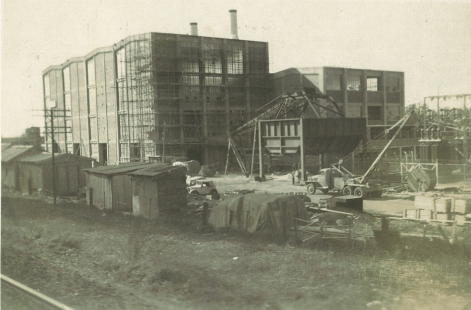 The Liverpool Power House under construction, c1953  [Liverpool City Council, HL002321]